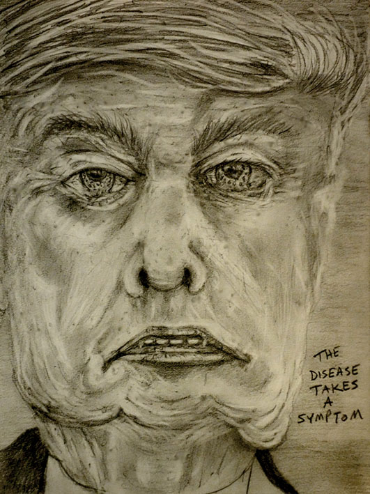 Trump drawing caricature