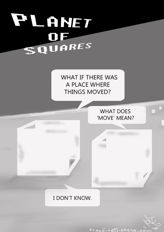 PLANET OF SQUARES COMIC