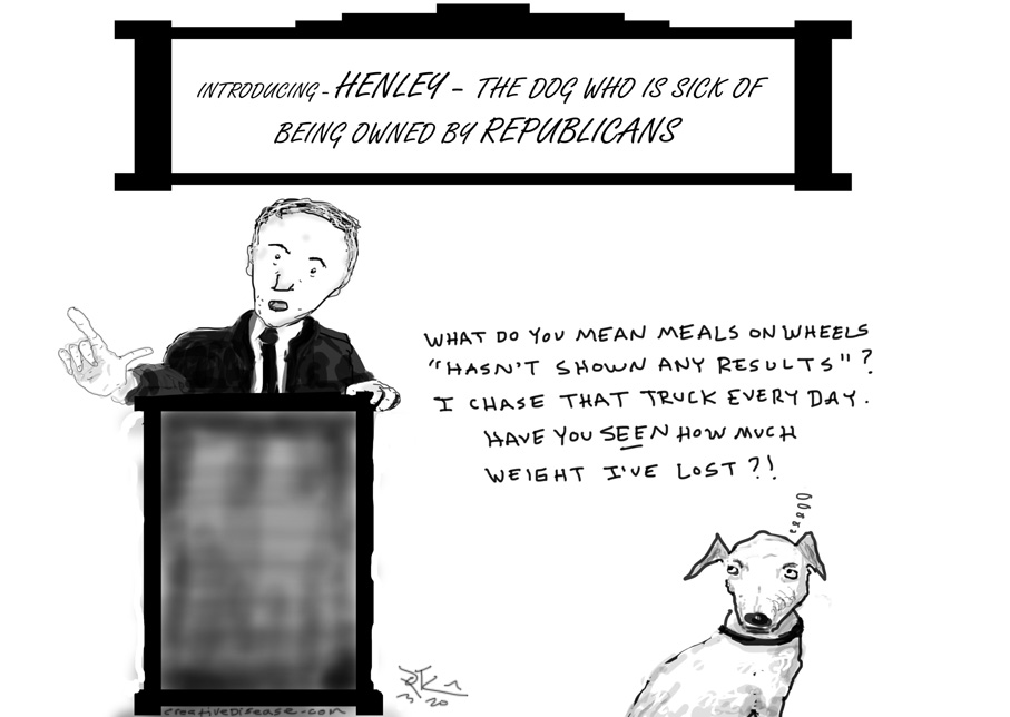republican hating dog henley