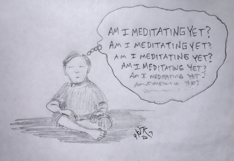 meditation comic cartoon