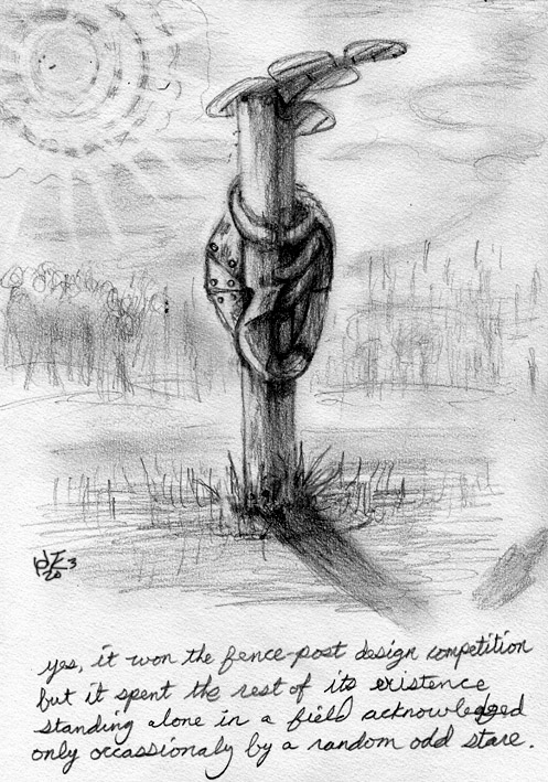 fence post cartoon