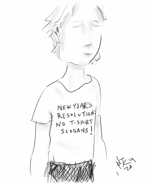 new year resolution cartoon