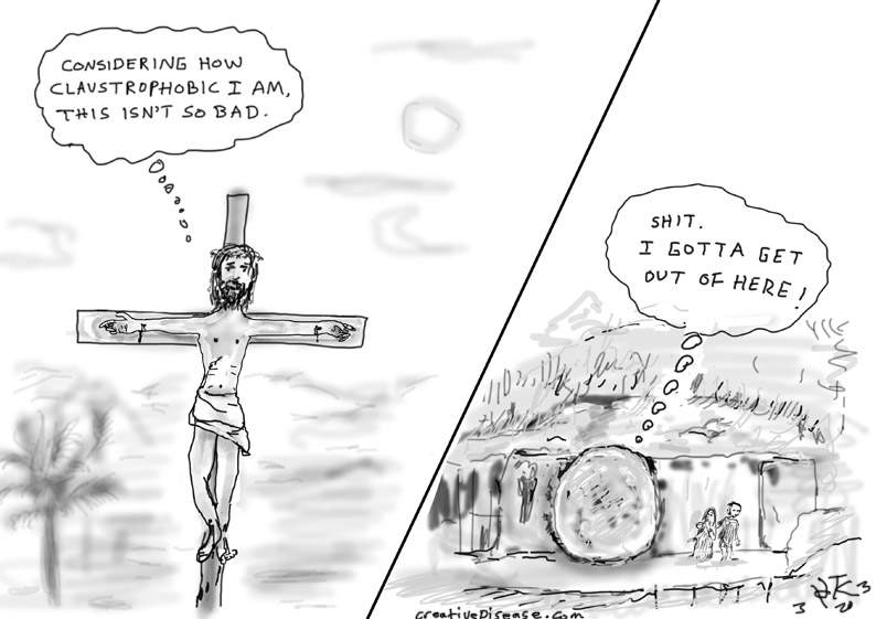 easter jesus cartoon