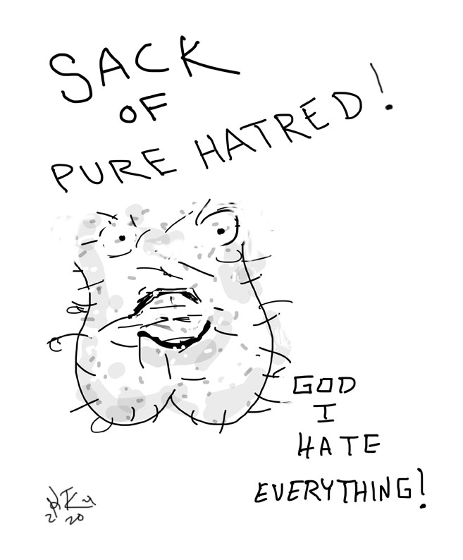 sack of pure hatred